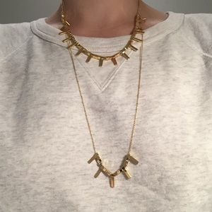 Set of two Gorjana gold spike necklaces